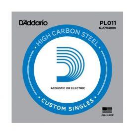 D'ADDARIO PL011 СТРУНА для Гитары Акустик/Электрик Brass-Plated Steel