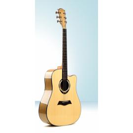 DEVISER L2-810A Гитара акустическая с вырезом, верхняя дека ель, обечайка и нижняя дека катальпа, гриф махагони, накладка грифа палисандр