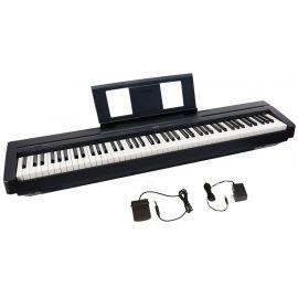 YAMAHA P-45B Пианино цифровое,88кл GHS/полифония 64 / тембров 10 /тон генератор AWM Stereo Sampling /метроном /разъем USB TO HOST /6Вт x 2 /без подставки L-85/1326х154х295мм 17,4кг (PA-150B в комплекте), цвет Black