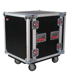GATOR G-TOUR 12U CAST рэковый флайт-кейс, 12 U, на колесах,дерево,черный, вес 30,97кг