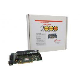 PANGOLIN LD2000 w/QM2000 PCI board, 256 MB ,(2D программное обеспечение для воспроизведения и редактирования лазерного шоу, 24 цветовых оттенка, до 30 сканирующих канала, 8 параллельных треков воспроизведения. Разрешение - 16000 x 16000. Скорость до 130.0