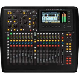 BEHRINGER X32 COMPACT цифровой микшер, 32 вх+8 возвратов, 17 фейдеров, 22 аналоговых вх/14 вых, 8FX, 16MIX, 6MATRIX, 6MUTE, 2xAES50, USB-audio