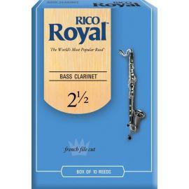 REB1025 Rico Royal Трости для кларнета бас, размер 2.5, Rico