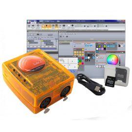 SUNLITE SUITE2-FC - Мини USB/DMX-интерф, 3 DMXIn/Out+4 комп разъём (CDrom), XP/Vista/Seven)