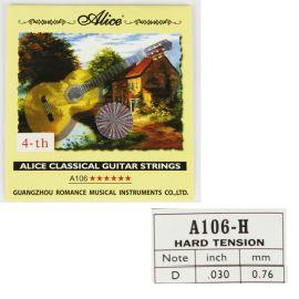 ALICE A106-4 Струна №4 0.030 нейлон в оплетке из посеребренной меди.