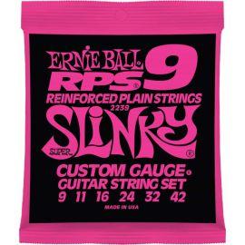 ERNIE BALL 2239 Струны для эл. гитары Super Slinky (9-11-16-24w-32-42) RPS9 2239
