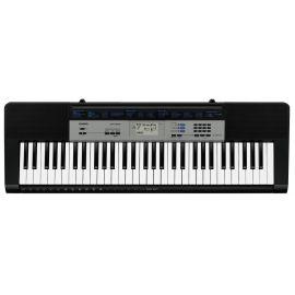 CASIO CTK-1550 Синтезатор 61 клавиша фортепианного типа, Максимальная полифония: 32,Тембры: 120 встроенных тембров,Ритмы / Узоры: 70 встроенных ритмов, 50 танцевальных музыкальных ритмов,Встроенные композиции: 100 (песенных банков)