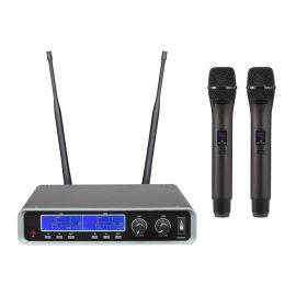 BG IU-208 Радиосистема вокальная, UHF 500-980MHz, PPL 2000 переключаемых частот, Led дисплей, 2 микрофона