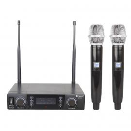 ENBAO MD-302 HH ручной радиомикрофон UHF,состоящая из двух ручных микрофонов-передатчиков и приёмник