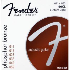 FENDER STRINGS NEW ACOUSTIC 60CL PH0S BRONZE 11-52 струны для акустической гитары, фосфорированная б