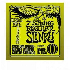 ERNIE BALL 2621 струны для 7стр. эл.гитары Nickel Wound Regular Slinky 7 (10-13-17-26-36-46-56)