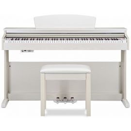 BECKER BDP-82W цифровое пианино, цвет белый, клавиатура 88 клавиш с молоточками, банкетка+наушники в комплекте