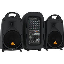"""BEHRINGER PPA2000BT портативная система звукоусиления, 8 канальный активный микшер 2х500Вт и 2 АС 10""""+1"""", 7 полос GEQ с FBQ, FX, Bluetooth, Стаканы"""