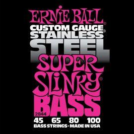 ERNIE BALL 2844 струны для бас-гитары Stainless Steel Bass Super Slinky (45-65-80-100)