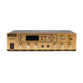 TADS DS-80B Усилитель мощности, трансляционный, 80Вт,2 микрофонных входа.2 линейных входа
