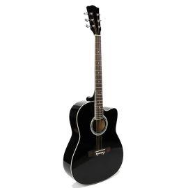 FFG-1039BK Акустическая гитара, черная, с вырезом, Foix