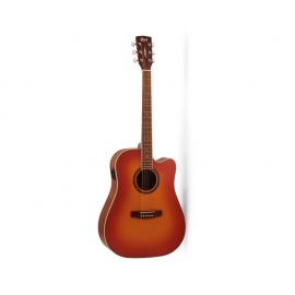 CORT AD890CF-LVBS Standard Series Электро-акустическая гитара, с вырезом, санберст