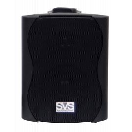 """SVS Audiotechnik WS-20 Black Громкоговоритель настенный, динамик 4"""", драйвер 0.5"""", 20Вт (RMS), трансформатор 10Вт-5Вт-2.5Вт-1.25Вт/100В, 8 Ом, 84 дБ, 90-18000 Гц, цвет черный, габариты: 172х150х217 мм"""