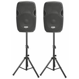 XLINE PRA-12 SET Активный акустический комплект с USB/SD/Bluetooth/FM