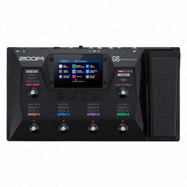 ZOOM G6 Гитарный процессор мультиэффектов.Встроенный педалборд с шестью стомп-переключателями и педалью экспрессии/громкости.