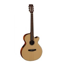 CORT CEC3-NS Classic Series Классическая гитара со звукоснимателем, с вырезом, цвет натуральный