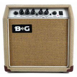 "B&G WA15 Усилитель гитарный комбо акустический, 15 Вт, 6,5"", Input, Bass, Middle, Treble, Chorus S\W, Chorus, Volume, Mp3 IN, Phones"