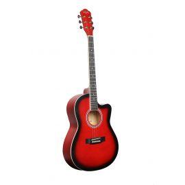 CARAVAN HS-3911 RD Гитара акустическая с вырезом, верхняя дека липа, обечайка и нижняя дека липа, гриф махагони, цвет RD