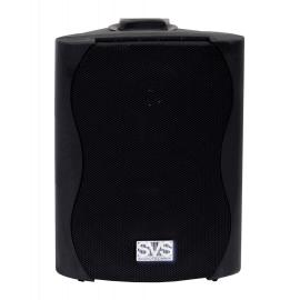 """SVS Audiotechnik WS-30 Black Громкоговоритель настенный, динамик 5.25"""", драйвер 0.5"""", 30Вт (RMS), трансформатор 20Вт-10Вт-5Вт-2.5Вт/100В, 8 Ом, 86 дБ, 80-18000 Гц, цвет черный, габариты: 185х163х244 мм"""