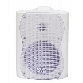 """SVS Audiotechnik WS-30 White Громкоговоритель настенный, динамик 5.25"""", драйвер 0.5"""", 30Вт (RMS), трансформатор 20Вт-10Вт-5Вт-2.5Вт/100В, 8 Ом, 86 дБ, 80-18000 Гц, цвет белый, габариты: 185х163х244 мм"""