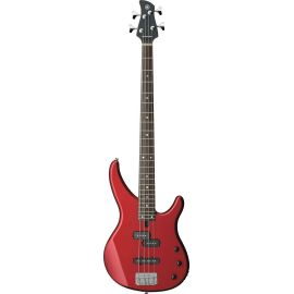 YAMAHA TRBX174 RED METALLIC бас-гитара, корпус - ольха, гриф - клен, накладка на гриф - палисандр, 24 лада, 2 звукоснимателя P/J-style, хромированные колки/бридж, цвет красный