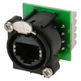 NEUTRIК NE8FAV-YK панельный разъем RJ45 под зажим провода IDC, пластиковый