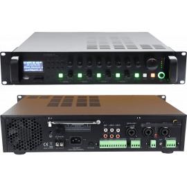 SVS Audiotechnik MA-240 PRO Радиоузел трансляционный на 4 регулируемых зоны, мощность усилителя 240 Вт, встроенные MP3, USB, FM, SD Card, Bluetooth.