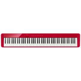 CASIO PX-S1000RD цифровое фортепиано, 88 клавиш рояльного типа, 5 уровней чувствительности клавиатуры, полифония 192 ноты, 18 тембров, 6 эффектов, метроном. Линейный вход, USB Type B, выход на наушники x 2, линейный выход x 2