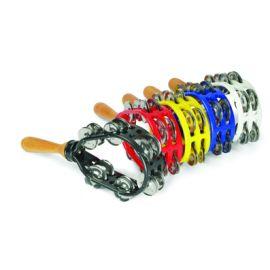 DADI MT8 Тамбурин ракетка, пластиковый, 12 пар бубенцов