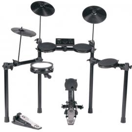 HITMAN HD-17 Ударная установка электронная. Пэды: малый барабан, тoм x 3, крэш, райд, хай-хэт, педаль хай-хэта, педаль с тригером бас-барабана и модуль управления (электроника);Полифония: 64 голоса, 583 ударных инструментов, 64 предустановленные композиции