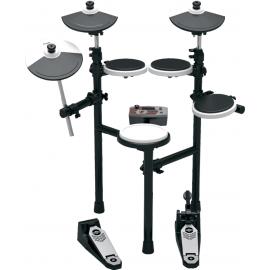 HITMAN HD-3MS Ударная установка электронная. Пэды: малый барабан, тoм x 3, крэш, райд, хай-хэт, педаль хай-хэта, педаль с тригером бас-барабана и модуль управления (электроника). Полифония: 64 голоса, 30 наборов ударных, 349 ударных инструментов