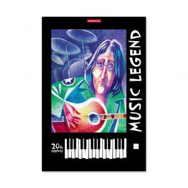 "ERICH KRAUSE 53134 Тетрадь для нот А4 вертикальная 24л мелов ""Music Legend"", вертикальная ориентация"