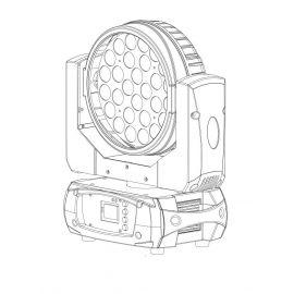 PROCBET WASH 28-12Z RGBWA+UV Cветодиодный вращающийся прожектор WASH / 28 светодиодов по 12 Вт. / RGBW / 12°-60° / зум / Segment control
