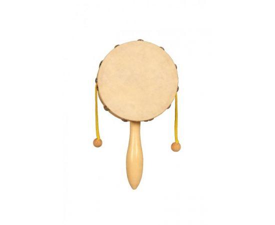 """FLIGHT FD-10N Индийский барабан дамару (диаметр 10 см.) Дамару, так же в народе получил распространение как """"любимая игрушка императора"""""""