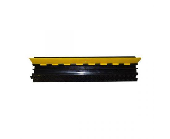 Cable Hose Protector C2P5B-1000 Защитный порог для кабеля, 2 канала (32x32мм), длина: - 1000 мм, ширина - 250 мм, высота - 50 мм, вес - 6.5 кг, максимальная нагрузка - 40 тонн.