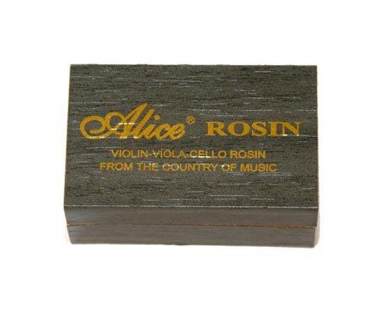 ALICE A013C КАНИФОЛЬ ПРЕМИУМ для скрипки. альта, виолончели.Изготовлена из качественных натуральных смол и воска.Специальная формула помогает избежать образования пыли.Пластиковый держатель для удобства использования. Деревянный футляр. Размер: 62 х 40 х