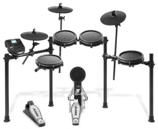 ALESIS NITRO MESH KIT электронная барабанная установка, 8 дюймовый dual-zone snare + 3 single-zone