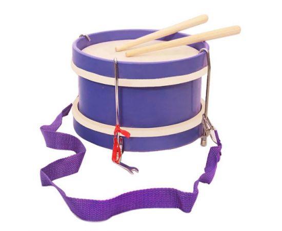"""DEKKO TB-1 Барабан детский цвет - ФИОЛЕТОВЫЙ, материал корпуса - липа, диаметр барабана 10"""". глубина барабана -5"""", цвет - фиолетовый или красный, ремень и палочки в комплекте"""