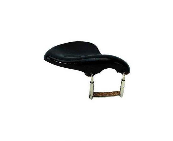 BRAHNER CHR-567 Подбородник для скрипки 1/2 - деревянный, материал-клен, крашенный, в комплекте с металлическим креплением, цвет- черный