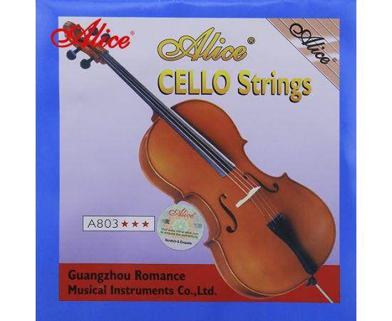 ALICE A803 3/4 Струны для виолончели 3/4, обмотка из никеля с серебряным покрытием