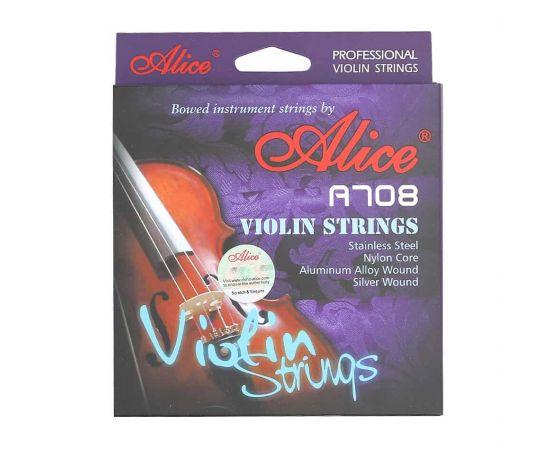 ALICE A708 Струны для скрипки,  две первых струны в комплекте: 1а струна - сталь с карбоновым покрытием