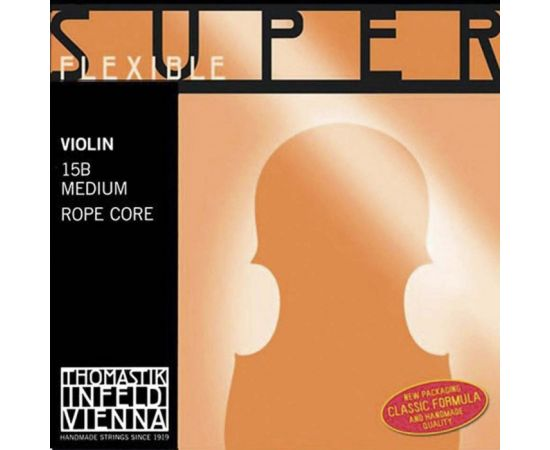 THOMASTIK 15B Super Flexible Комплект струн для скрипки размером 4/4, среднее натяжение