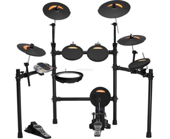 """NUX DM-4S Электронная ударная установка с улучшенным пэдом малого барабана. Особая сетчатая поверхность с улучшенной атакой и чувствительностью триггеров.Конфигурация: 1 х пэд малого барабана 11"""". 3 х пэд том-барабана 9"""". 1 х пэд бас-барабана 9"""". 3 х пэд"""