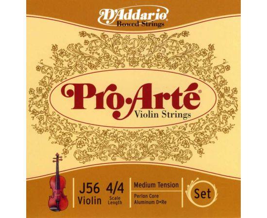 D'ADDARIO J56 Набор 4 струн для Скрипки нейлон Витые PRO ARTE. витые. Сердечник Нейлон мультиволоконо