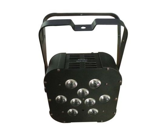 HIGHENDLED YHBL-001T-3W-9 Световой прибор PAR64, 9 x 3Вт 3-в-1 светодиодов, литиевый аккумулятор на 6 часов работы прибора